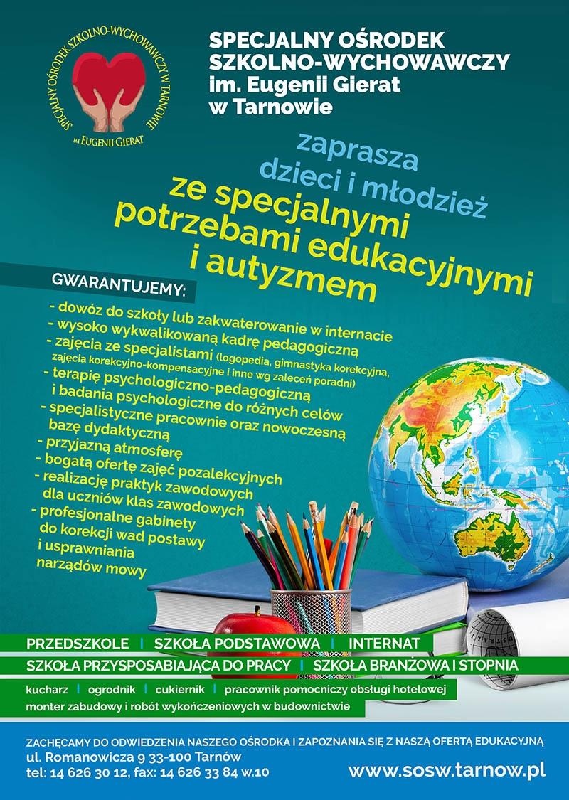 Specjalny Ośrodek Szkolno-Wychowawczy w Tarnowie.